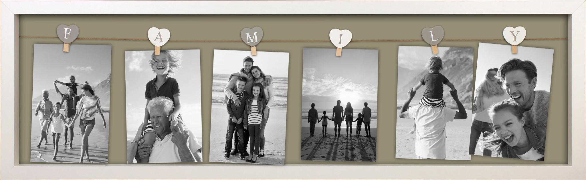 FOTOLIJST FAMILY 2.0 6FTS 78X24CM WIT-1