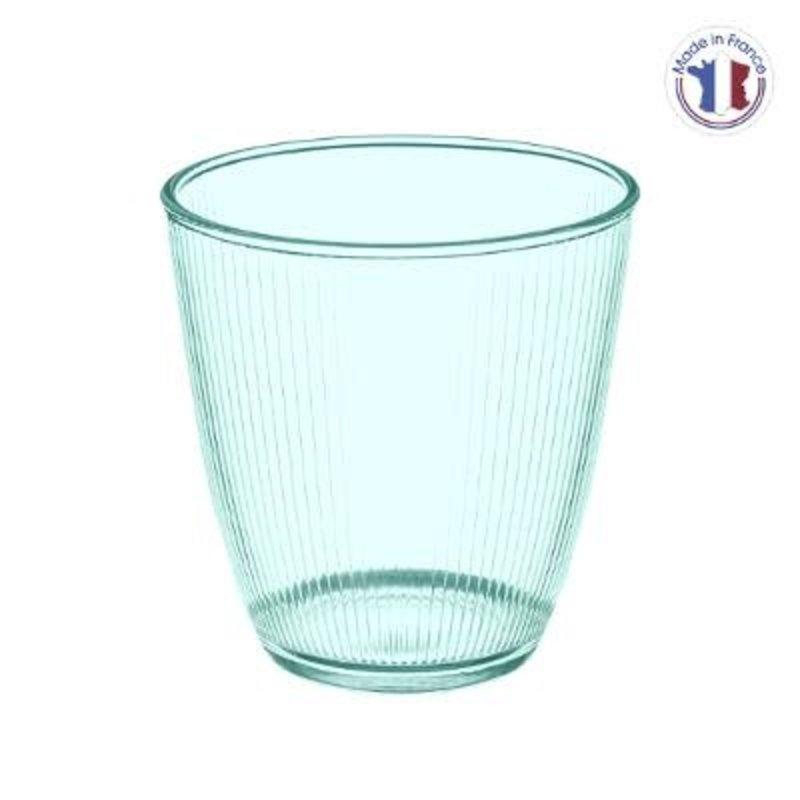 GLAS STRIPY BLAUW 25CL