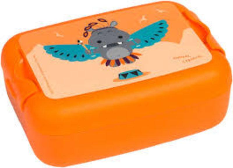 LUNCKBOX ANIMAL CARNIVAL HIPPO ORANJE