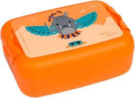 LUNCKBOX ANIMAL CARNIVAL HIPPO ORANJE-1