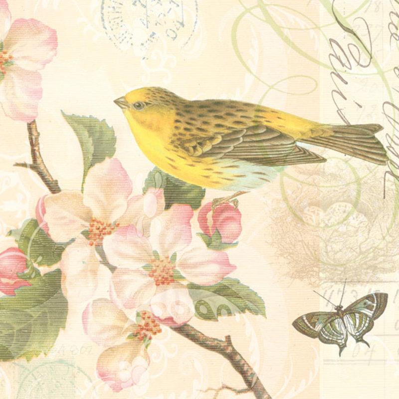 SERVIET 33X33 BIRD AND BLOSSOM