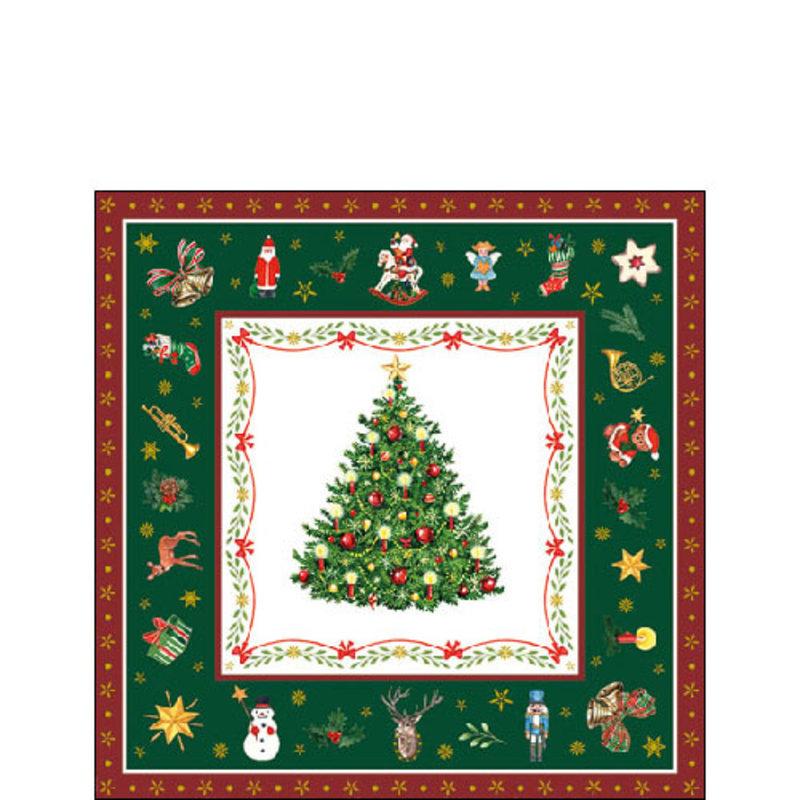 SERVIET 25X25 CHRISTMAS EVERGREEN GREEN