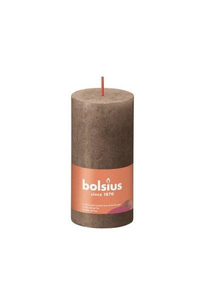 BOLSIUS RUSTIEK STOMPKAARS 100/50  SUEDE BROWN (8)