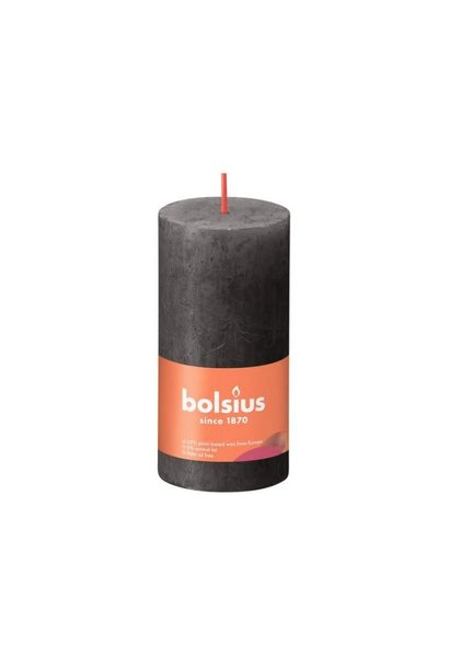 BOLSIUS RUSTIEK STOMPKAARS 100/50  STORMY GREY (8)