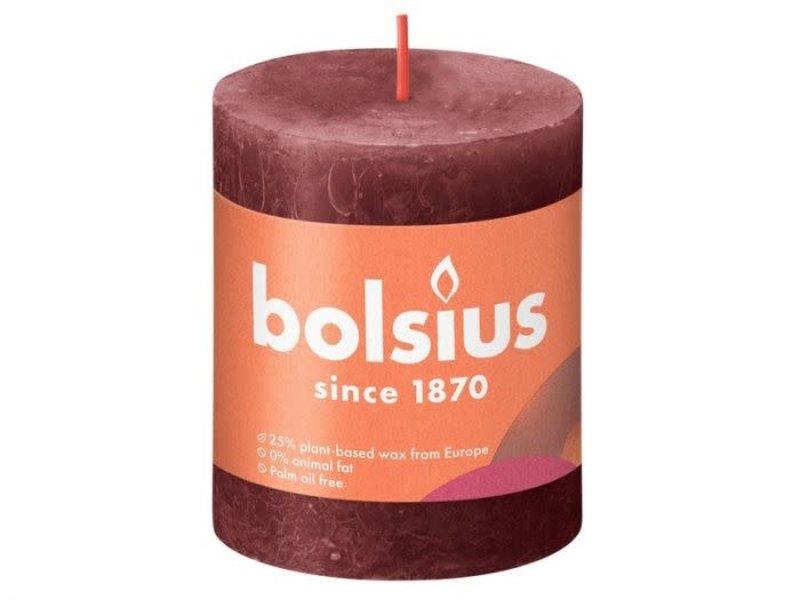 BOLSIUS RUSTIEK STOMPKAARS 80/68  VELVET RED (4)