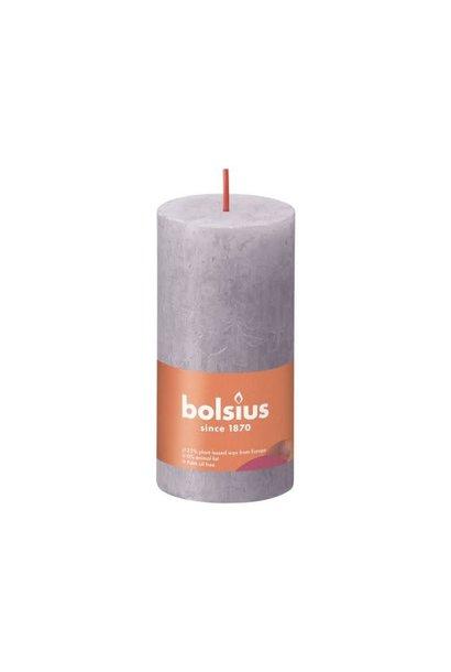 BOLSIUS RUSTIEK STOMPKAARS 100/50  FROSTED LAVENDER (8)