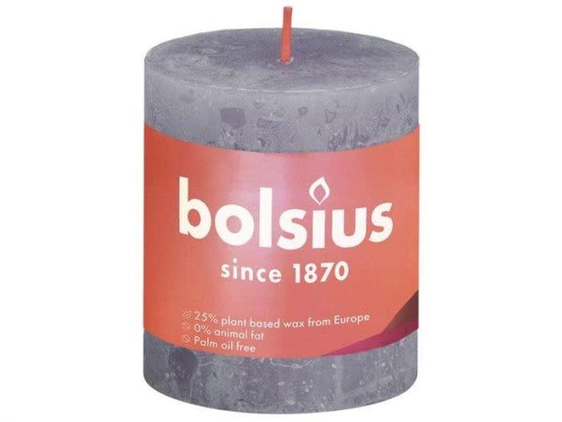 BOLSIUS RUSTIEK STOMPKAARS 80/68  FROSTED LAVENDER (4)