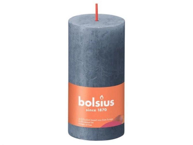 BOLSIUS RUSTIEK STOMPKAARS 100/50 TWILIGHT BLUE (8)