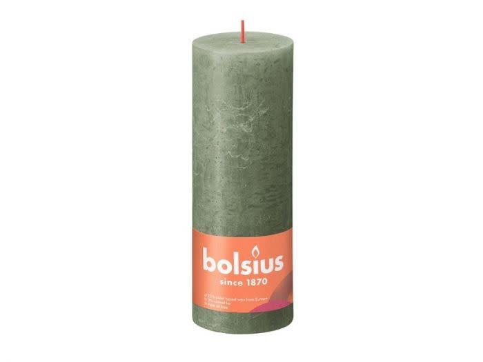 BOLSIUS RUSTIEK STOMPKAARS 190/68  FRESH OLIVE (4)-1
