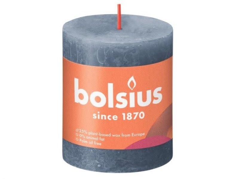 BOLSIUS RUSTIEK STOMPKAARS 80/68  TWILIGHT BLUE (4)