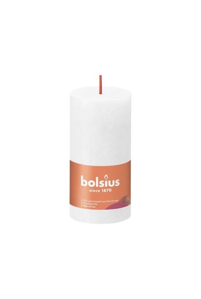 BOLSIUS RUSTIEK STOMPKAARS 100/50 CLOUDY WHITE (8)