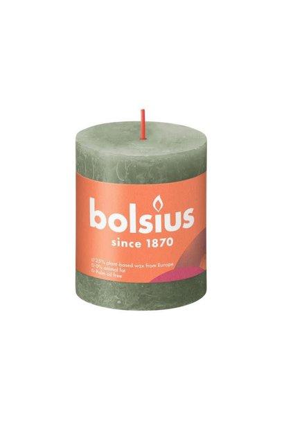 BOLSIUS RUSTIEK STOMPKAARS 80/68  FRESH OLIVE (4)