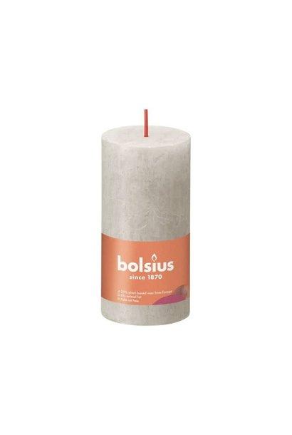 BOLSIUS RUSTIEK STOMPKAARS 100/50  SANDY GREY (8)