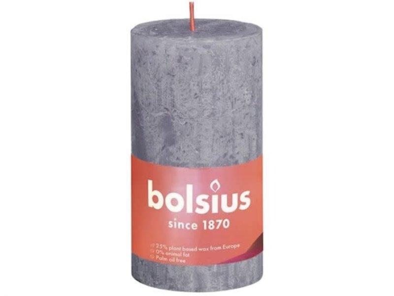 BOLSIUS RUSTIEK STOMPKAARS 130/68 FROSTED LAVENDER (4)