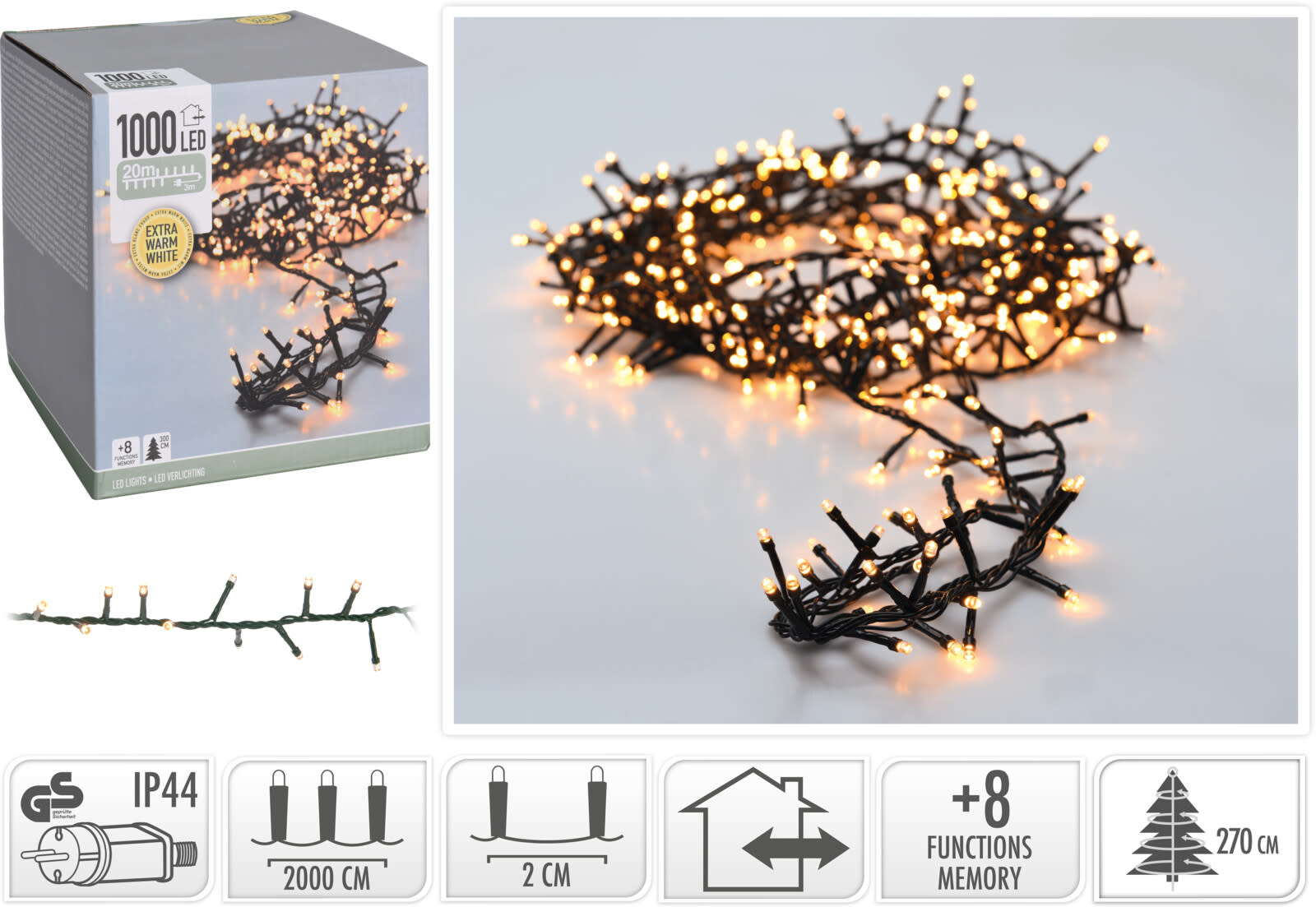MICROCLUSTER 1000LED EXTRA WW-2