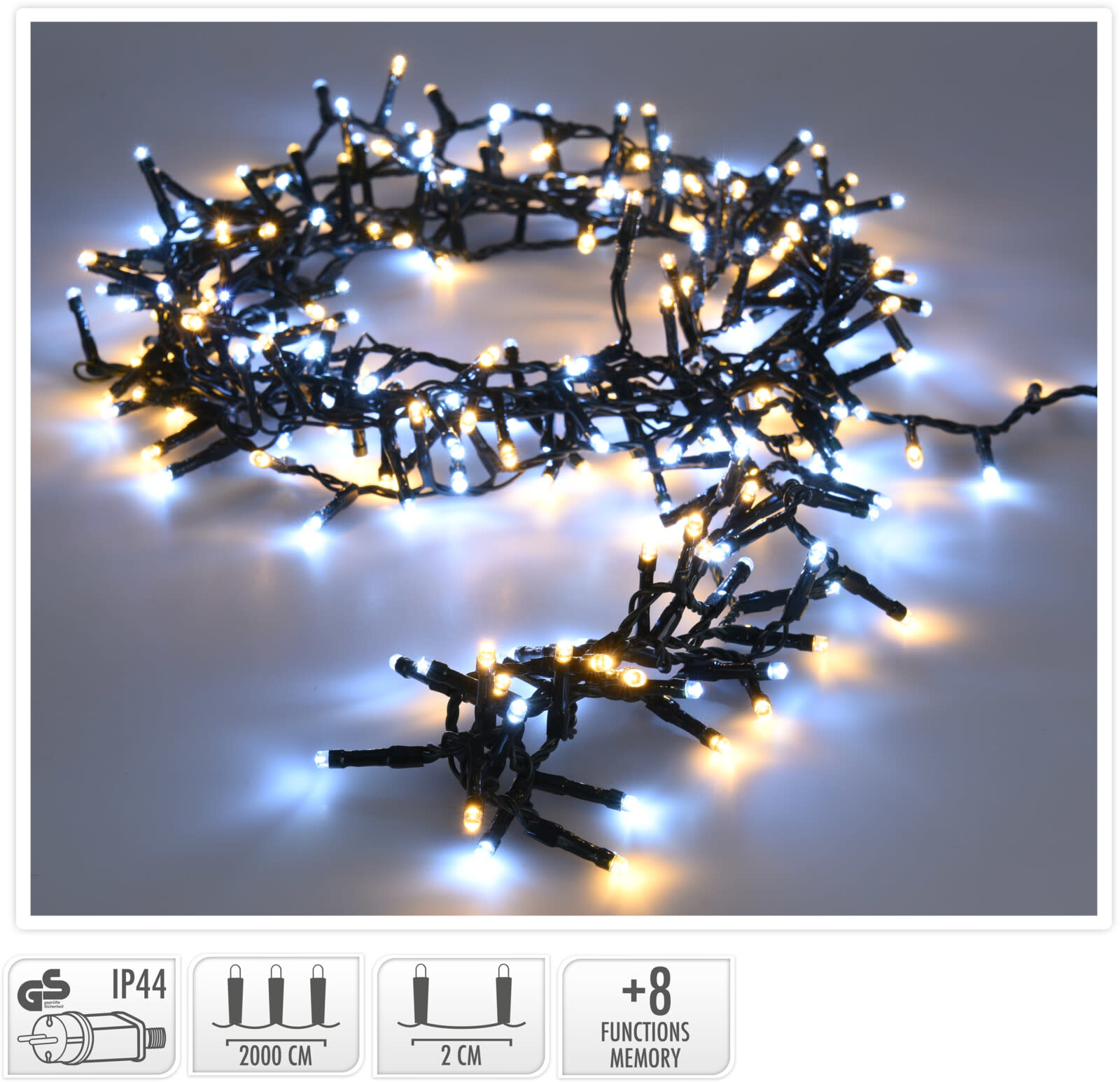 MICROCLUSTER 1000LED 20MTR-2