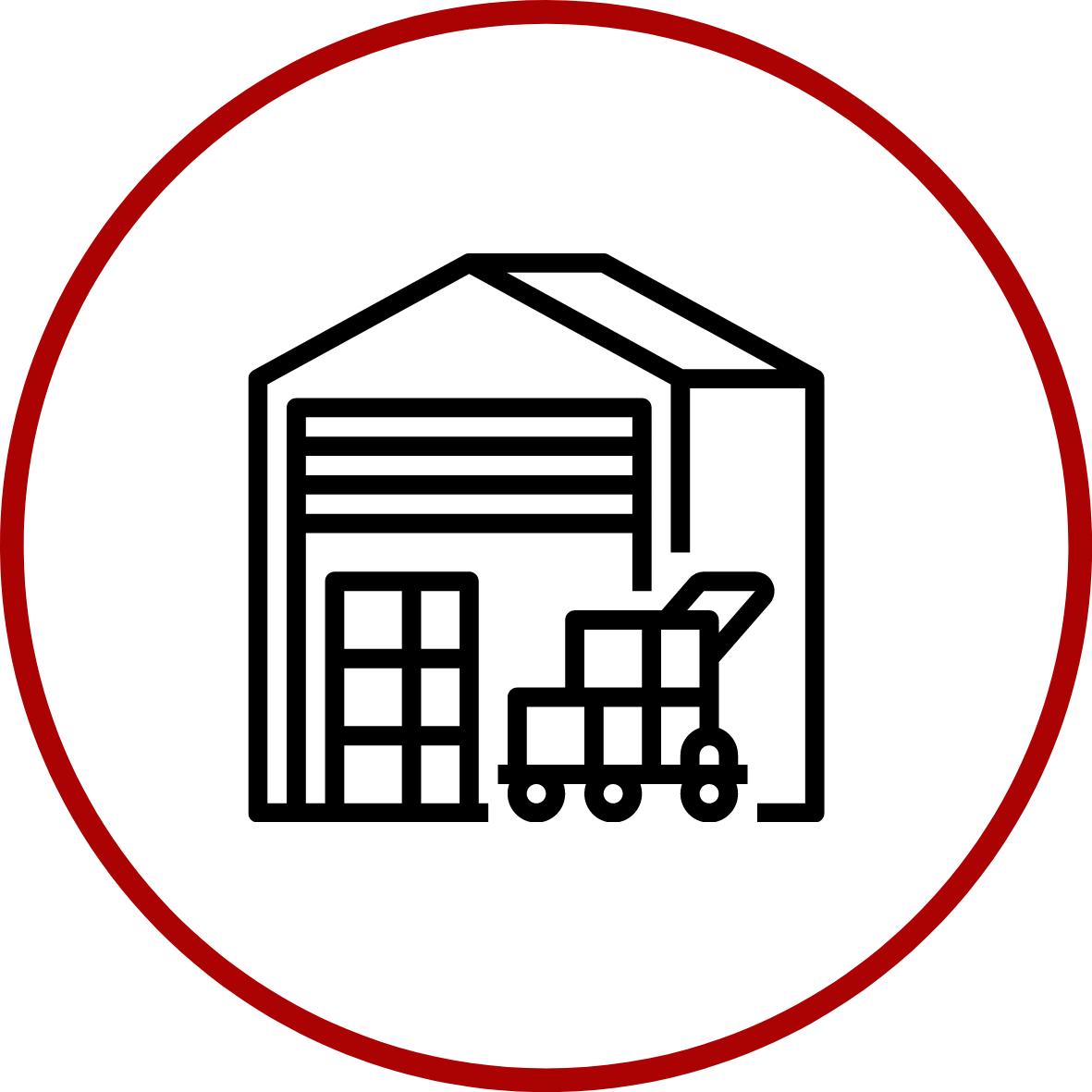 Producten worden gestockeerd in Laarne.