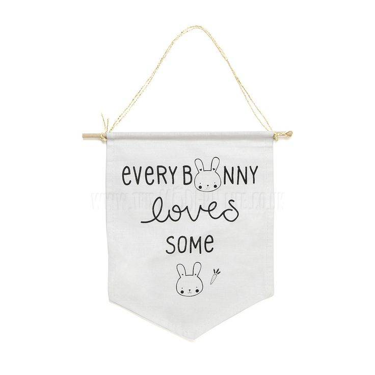 A Little Lovely Company Little wall flag Bunny
