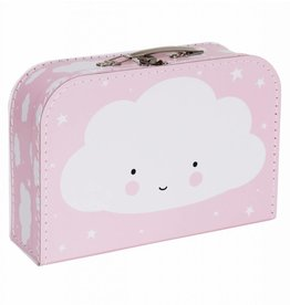 A Little Lovely Company Suitcase Cloud Pink