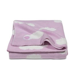Jollein Knitted Blanket Clouds Pink-Off White 75 x 100 cm