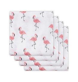 Jollein Hydrofiel Doeken Flamingo 4Pack