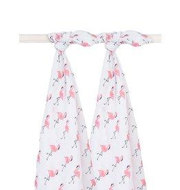 Jollein Hydrofiel Swaddle 115x115cm Flamingo