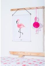 Jollein Poster 42x60cm Canvas Flamingo
