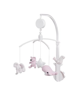 Baby's Only Musical Mobile Classic-Pink/Baby-Pink/White