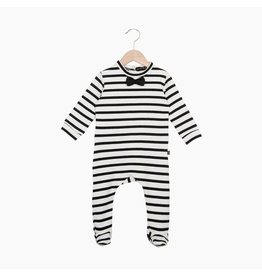 House Of Jamie Bow Tie Babysuit Breton