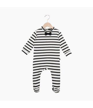 House Of Jamie Bow Tie Babysuit Breton