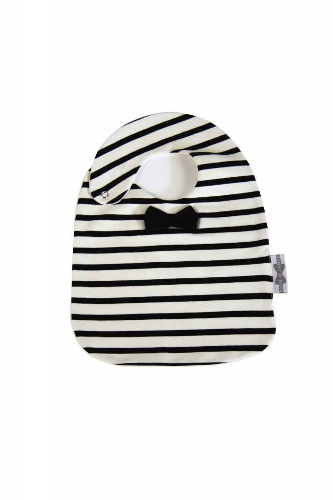 House Of Jamie Bow Tie Bib Breton