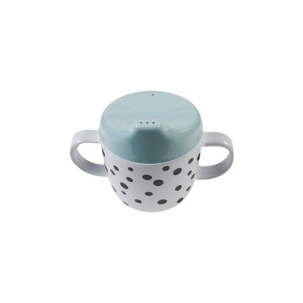 Done By Deer 2Handle Spout Cup Happy Dots Blue