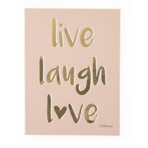 Childhome Schilderij Live Laugh Love 30x40cm