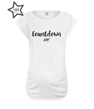 """Your Wishes """"Countdown"""" Maternity Tee White"""