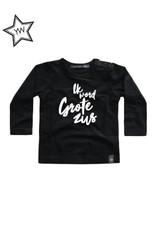Your Wishes Grote Zus Tee Longsleeve Black