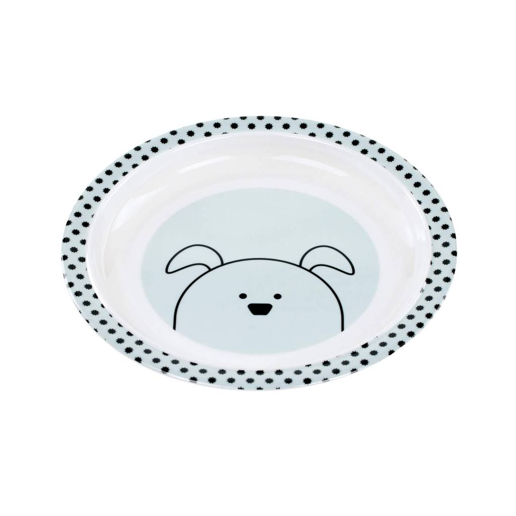 Lassig Dish Plate Little Chums Dog