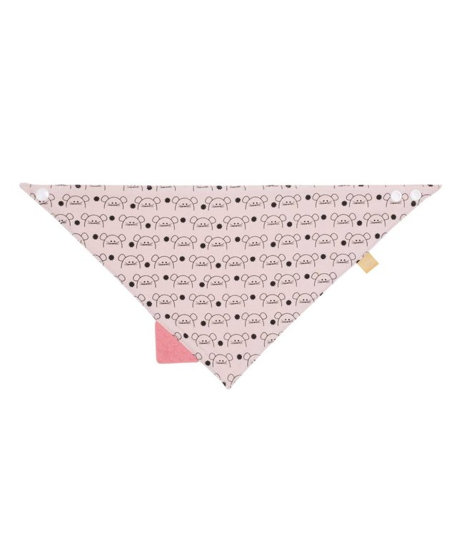 Lassig Bandana With Silicone Teether Little Chums Mouse