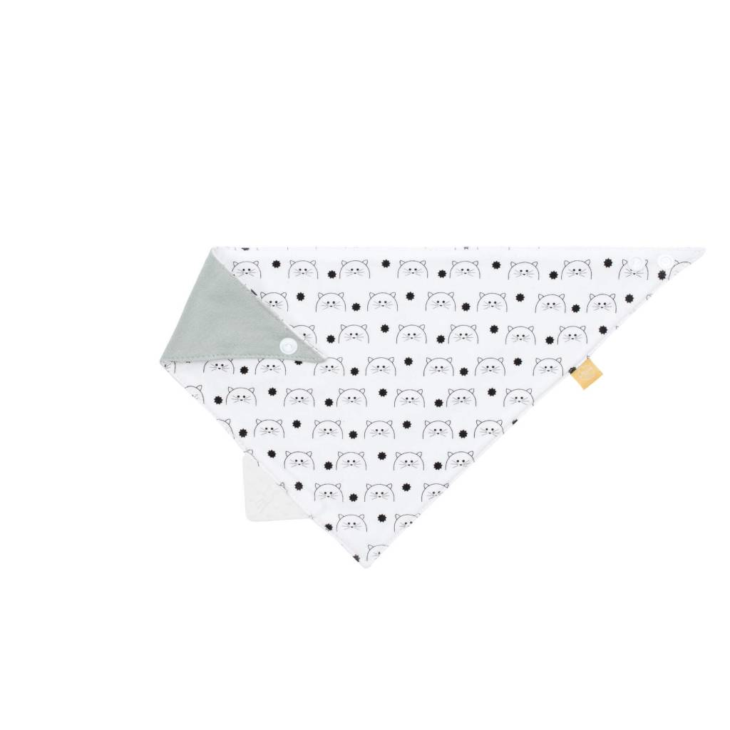 Lassig Bandana With Silicone Teether Little Chums Cat