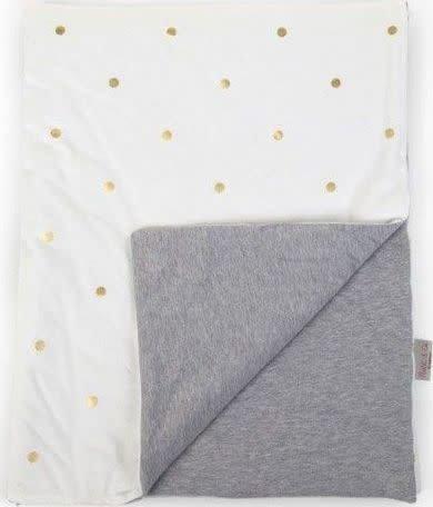 Childhome Deken Jersey Gold Dots 80x100cm