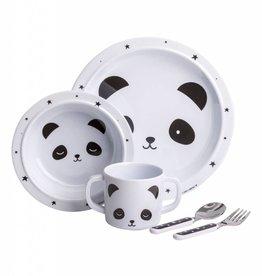 A Little Lovely Company Dinner Set Panda