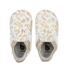 Bobux Soft Soles Abstract Gold & White