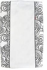Witlof Aankleedkussenhoes Moon Zwart/Wit