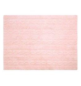 Lorena Canals Mat Braids Soft Pink 80 X 120 cm