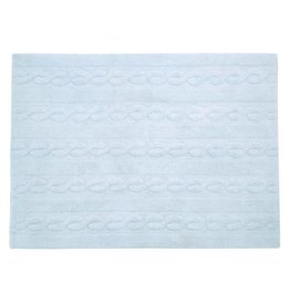 Lorena Canals Mat Braids Soft Blue 80 x 120 cm