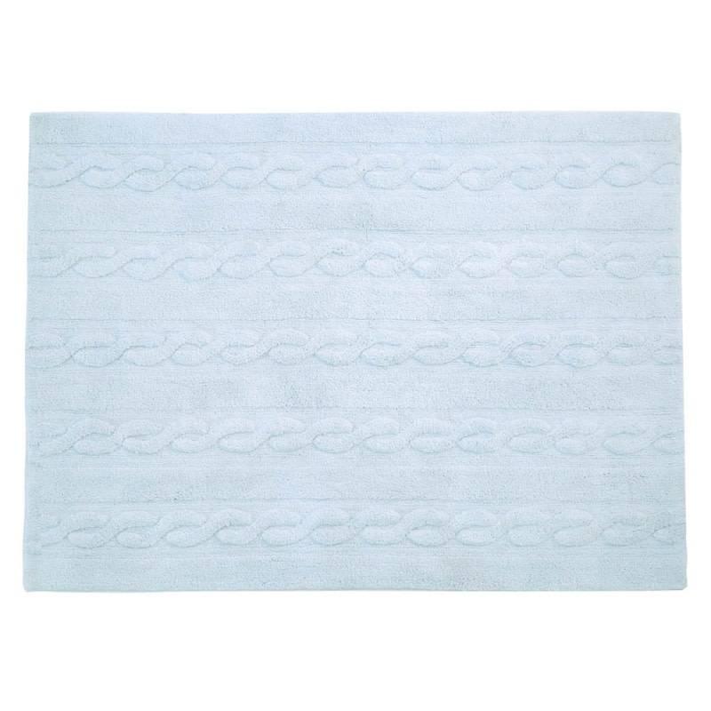 Lorena Canals Mat Braids Soft Blue 80 x 120 cm