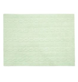 Lorena Canals Mat Braids Soft Mint 80 x 120 cm