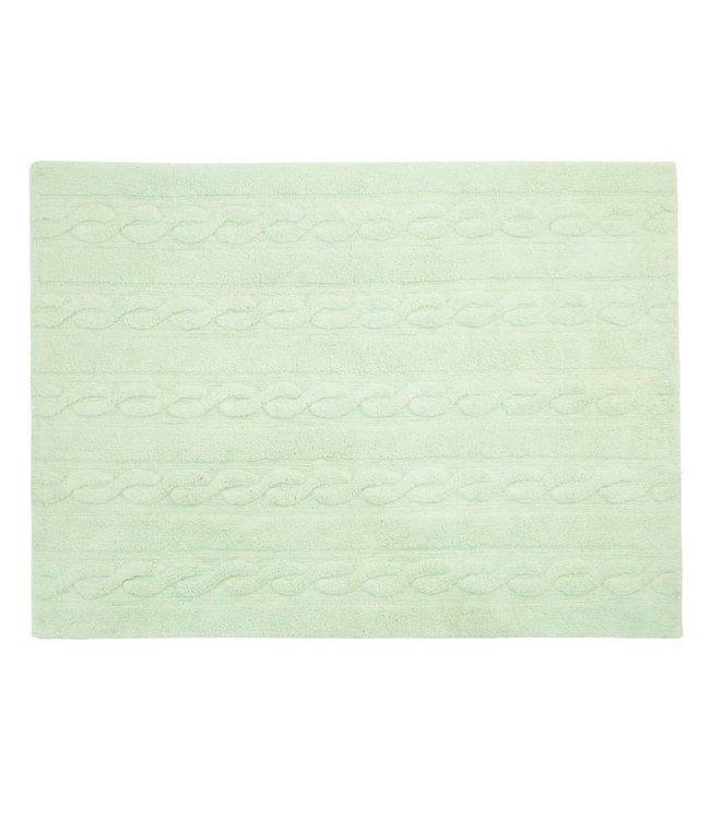 Lorena Canals Mat Braids Soft Mint 80 x 120 cm