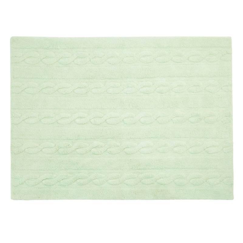 Lorena Canals Mat Braids Soft Mint 120 x 160 cm