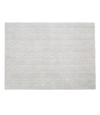 Lorena Canals Mat Braids Pearl Grey 120 x 160 cm