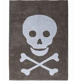 Lorena Canals Mat Skull Dark Grey 140 x 200 cm